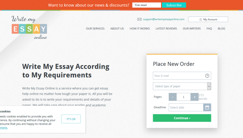 WriteMyEssayOnline website