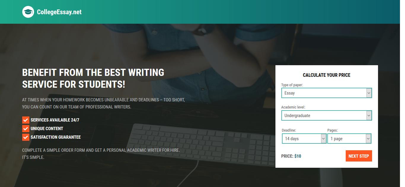 CollegeEssay.net website